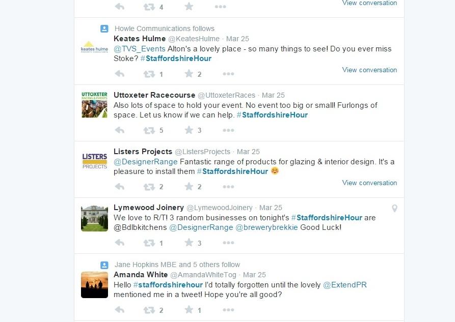 Screen grab of business Tweetup