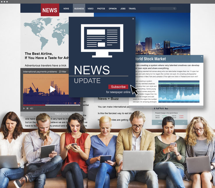 57865539 - news update journalism headline media concept